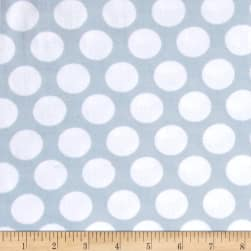 Kaufman Little Prints Double Gauze Dots Grey/White