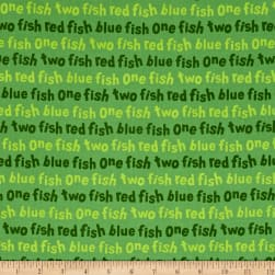 Dr. Seuss One Fish Two Fish Words Green