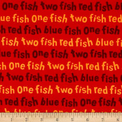 Dr. Seuss One Fish Two Fish Words Red