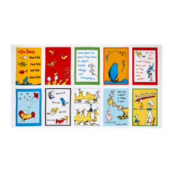 "Dr. Seuss One Fish Two Fish 23"" Panel Celebration"