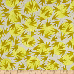 Kaufman Marks by Valori Wells Birds Gold Fabric