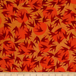Kaufman Marks by Valori Wells Birds Saffron Fabric