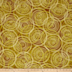 Kaufman Marks by Valori Wells Circle Swirl Gold