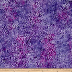 Kaufman Artisan Batiks Tiger Fish Waves Purple Fabric