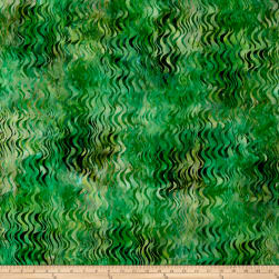 Kaufman Artisan Batiks Tiger Fish Green Fabric