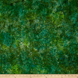 Kaufman Artisan Batiks Tiger Fish Pebbles Green