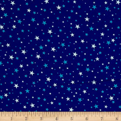 Kaufman Sevenberry Petite Classics Stars Royal Fabric