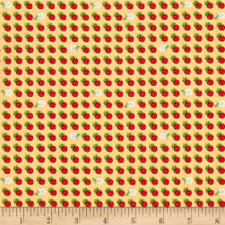 Kaufman Sevenberry Petite Classics Strawberries Yellow Fabric
