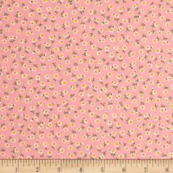 Kaufman Sevenberry Petite Classics Buds Baby Pink Fabric