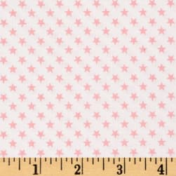 Kaufman Sevenberry Classiques Small Star Baby Pink Fabric