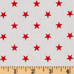Kaufman Sevenberry Classiques Med Star Poppy Fabric