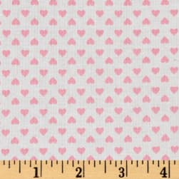 Kaufman Sevenberry Classiques Small Hearts Baby Pink Fabric