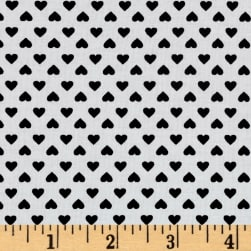 Kaufman Sevenberry Classiques Small Hearts Jet Fabric