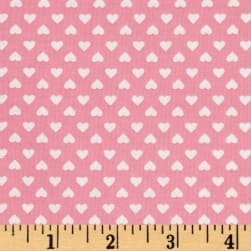 Kaufman Sevenberry Classiques Small Hearts Pink Fabric