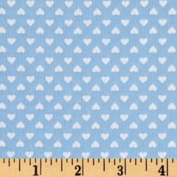Kaufman Sevenberry Classiques Small Hearts Blue Fabric