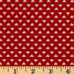 Kaufman Sevenberry Classiques Small Hearts Red Fabric
