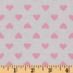 Kaufman Sevenberry Classiques Med Hearts Baby Pink