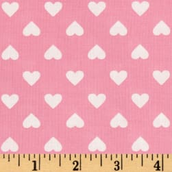 Kaurman Sevenberry Classiques Med Hearts Pink Fabric