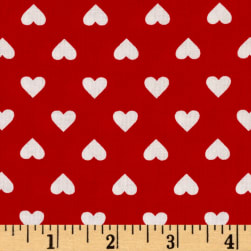 Kaufman Sevenberry Classiques Med Hearts Red Fabric