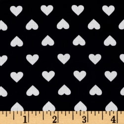 Kaufman Sevenberry Classiques Med Hearts Navy Fabric