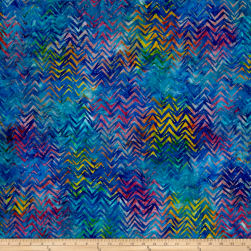 Kaufman Batiks To The Point Diagonal Rainbow Fabric