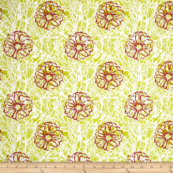 Handmaker Bramble Split Pea Fabric