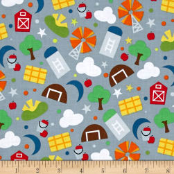 Farm Farm Grain Slate Fabric