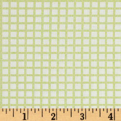 Candy Land Plaid Grid Sour Apple Fabric