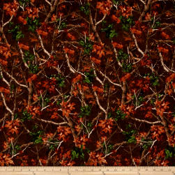 Forest Tree Camo Brown Fabric