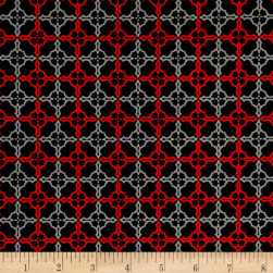 Starlight Labyrinth Black Fabric