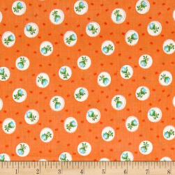 First Blush Rosebud Orange Fabric