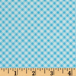 First Blush Gingham Aqua