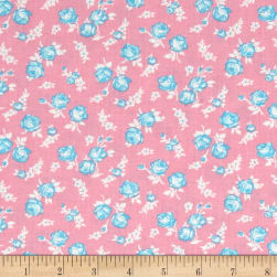 First Blush Mini Roses Pink Fabric