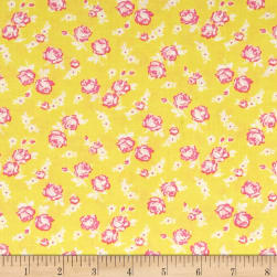 First Blush Mini Roses Yellow Fabric