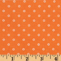 First Blush Daisy Dot Orange Fabric