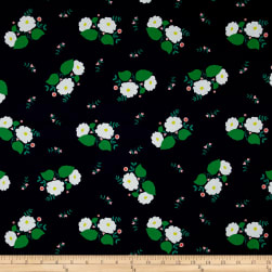 Maribel Large Floral Navy Fabric