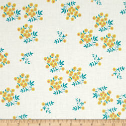 Maribel Dot Floral White Fabric