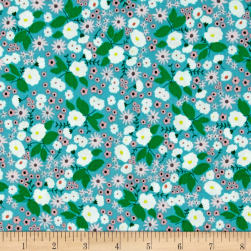 Maribel Packed Floral Turquoise Fabric