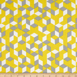 Maribel Cubes Yellow Fabric