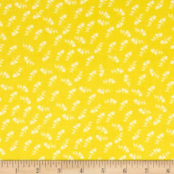Maribel Mono Floral Yellow Fabric