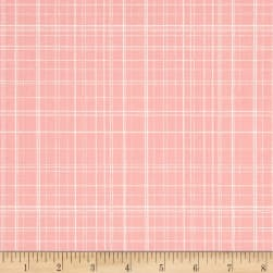 Maribel Fine Line Plaid Pink Fabric