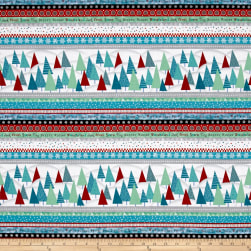 Frosty Fun Strip Aqua Fabric