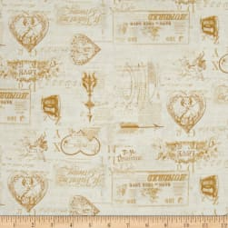 Vintage Valentine Tonal Light Butter Fabric
