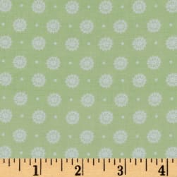 Buttercream Dot Light Mint Fabric
