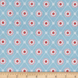 Buttercream Geometric Aqua Fabric