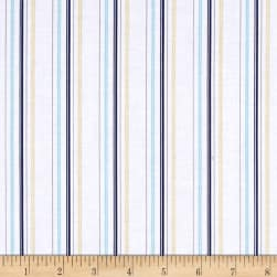 Buttercream Stripe Light Navy Fabric