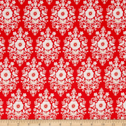 Buttercream Toss Dark Coral Fabric
