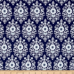 Buttercream Toss Light Navy Fabric