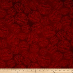 Pub Crawl Dot Dark Red Fabric