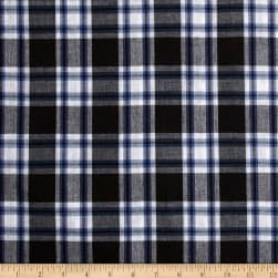 Hudson Bay Madras Plaid Black/White/Blue